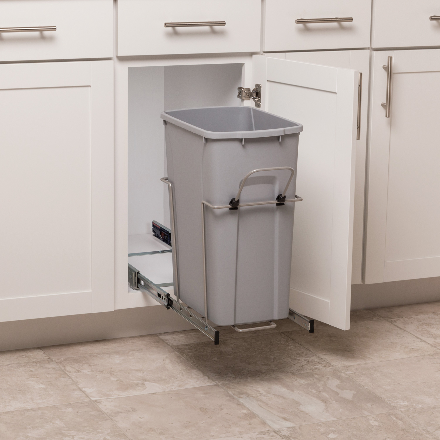 Single 35 Qt Pullout Waste Bin Simplyput Organizers
