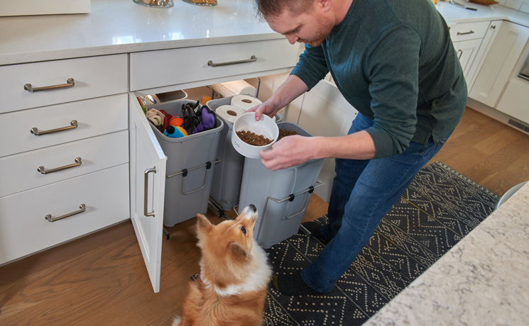 Waste bins are ideal for keeping food and other items you need for the dog
