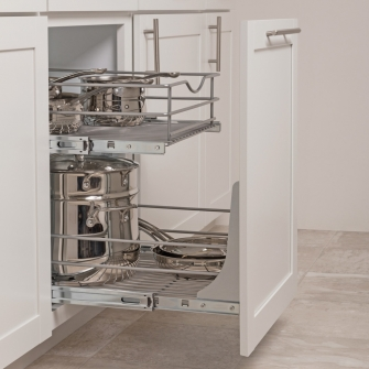 Door Mounting Kit with Double-tier Pullout Baskets